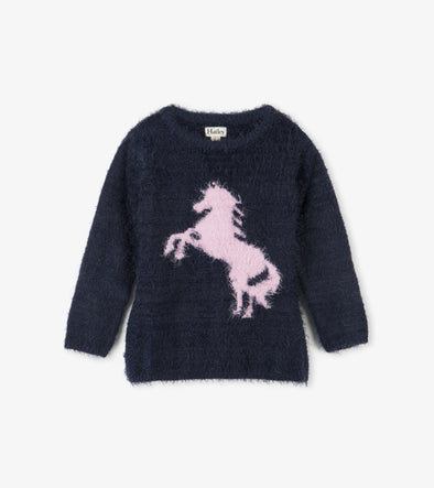 Playful Horse Fluffy Sweater