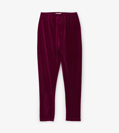 Magenta Velour Leggings