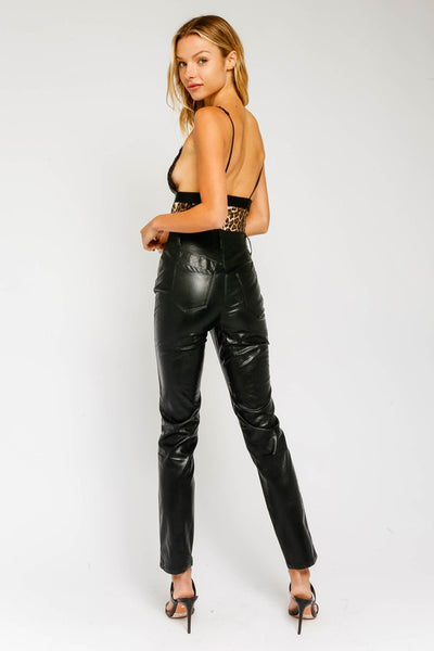 Carrie Pleather Pants