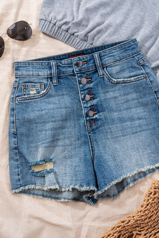 Button it up denim short - ShopTheCue