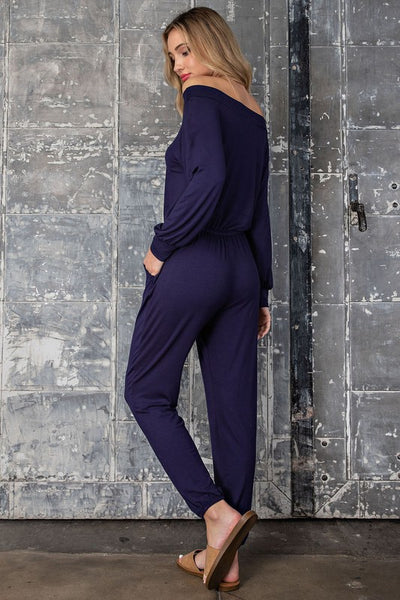 Lazy Day Jumpsuit Navy