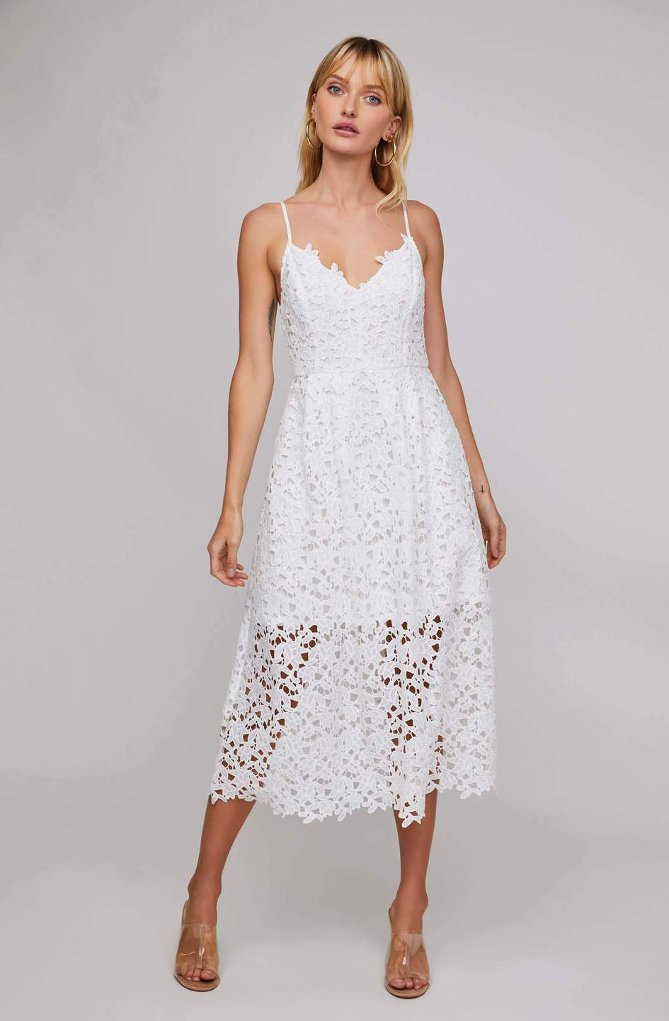 LACE A LINE MIDI DRESS - ShopTheCue