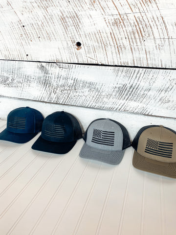 Button Flag Hat (4 Colors) - ShopTheCue