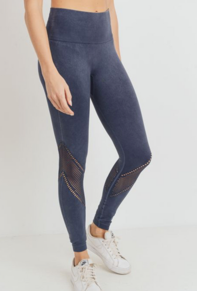 Perforation Highwaist Mineral Wash Legging - ShopTheCue