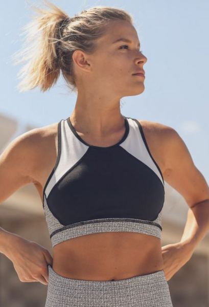 Static Pattern Print Block Sports Bra - ShopTheCue
