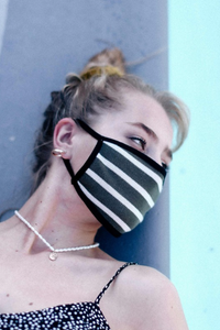 Stripe Cotton Mask - ShopTheCue