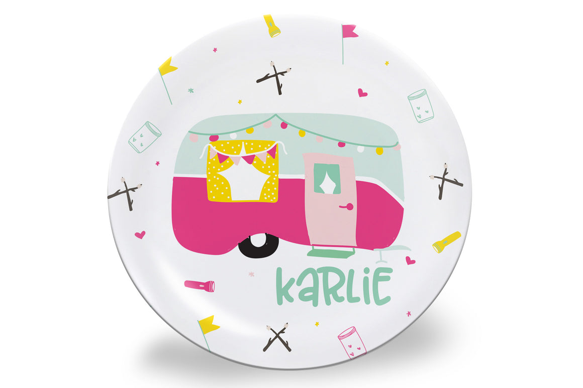 Happy Camper Personalized Plate