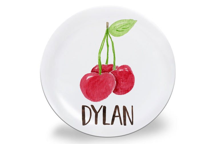 Cherry Personalized Plate