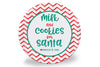 Red Chevron Cookies for Santa Personalized Plate