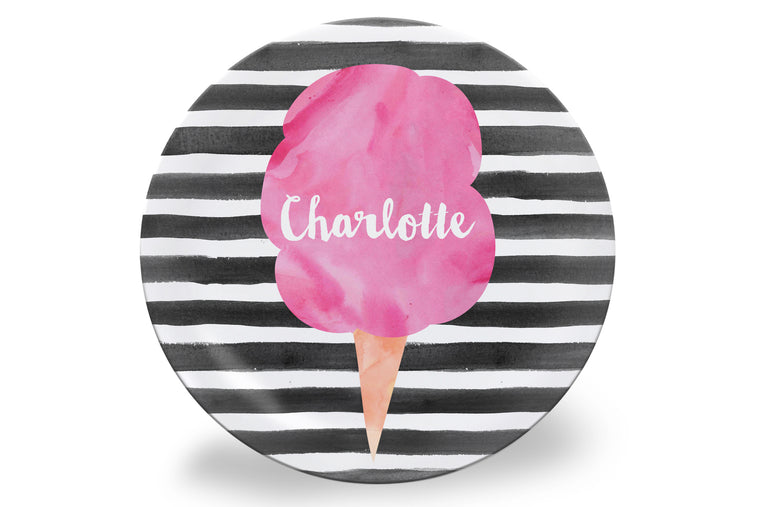 Cotton Candy Personalized Plate
