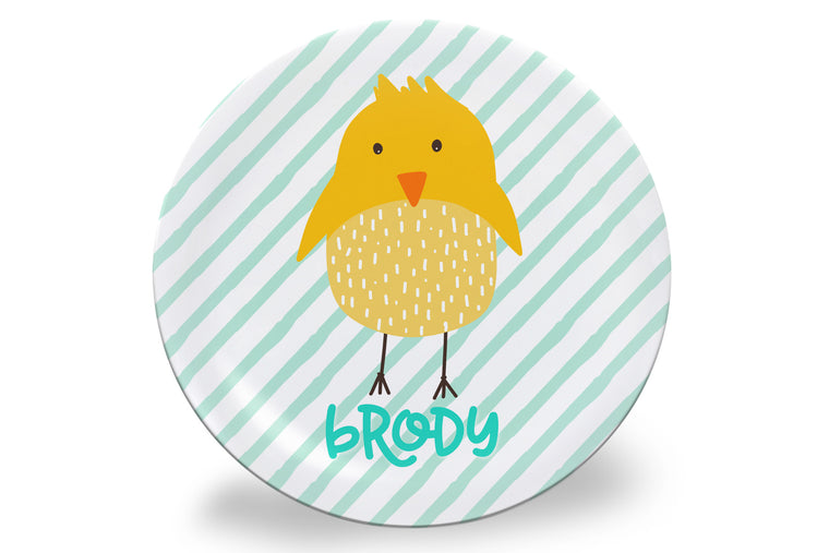 Easter Chick Personalized Plate
