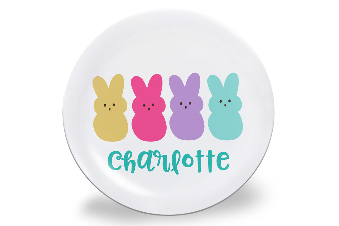 Easter Candy Bunny Personalized Plate