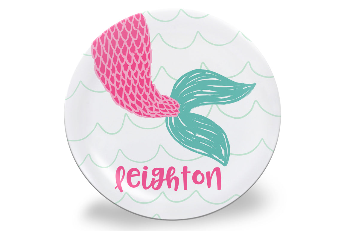 Mermaid Tail Personalized Plate