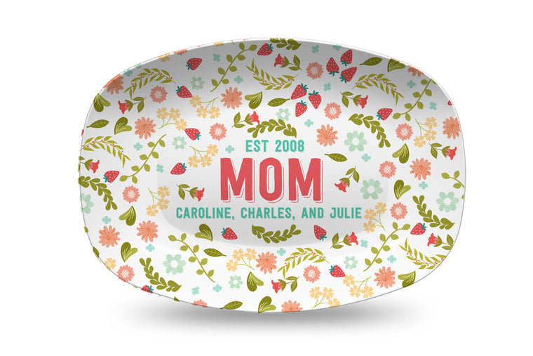 Mother's Day Farmers Market Personalized Platter