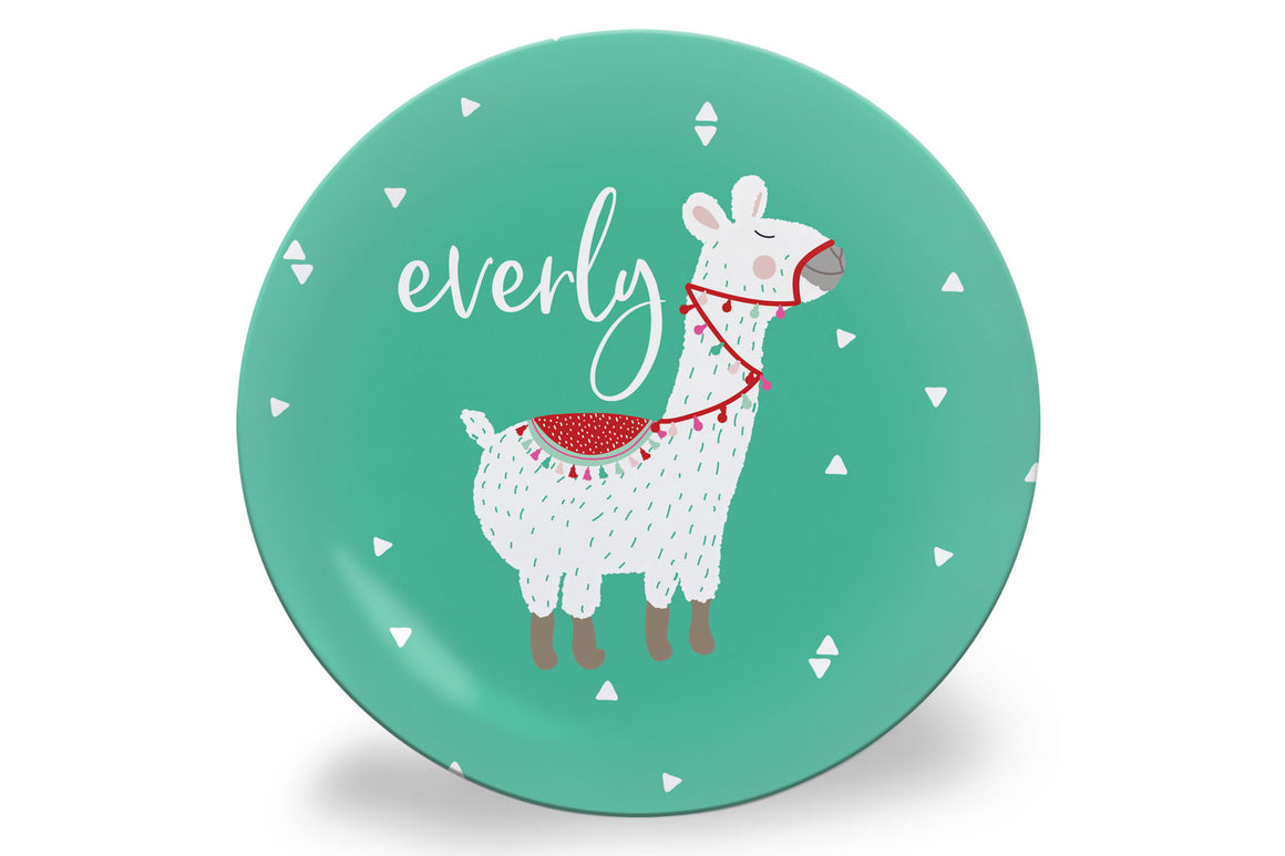 Valentine's Day Llama Personalized Plate