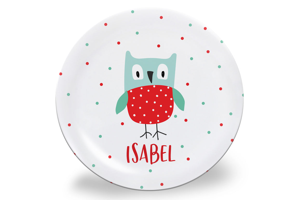Valentine's Day Owl Personalized Plate