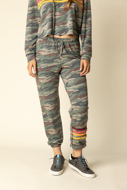 Olive Camo Jogger Pant