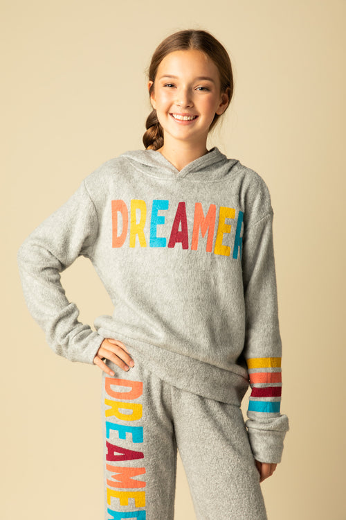 "BRUSHED FLEECE ""DREAMER"" HOODY"