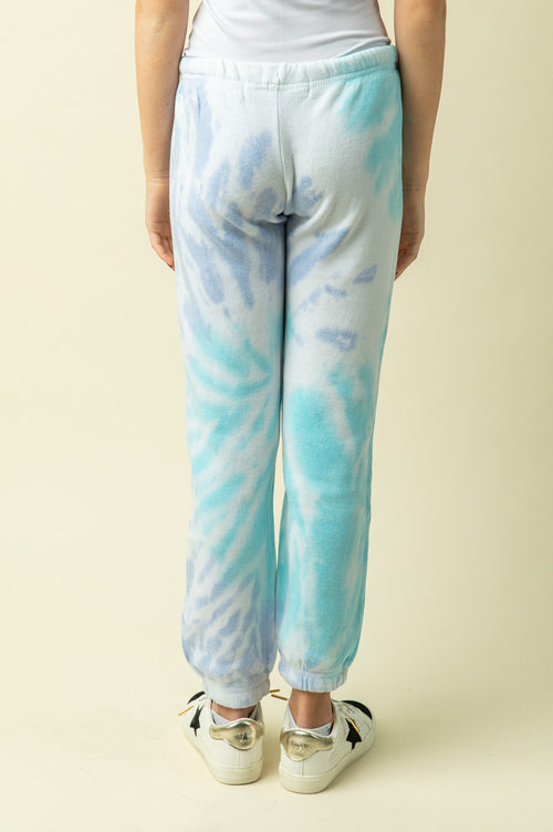 TROPICAL BLUE TIE DYE JOGGERS