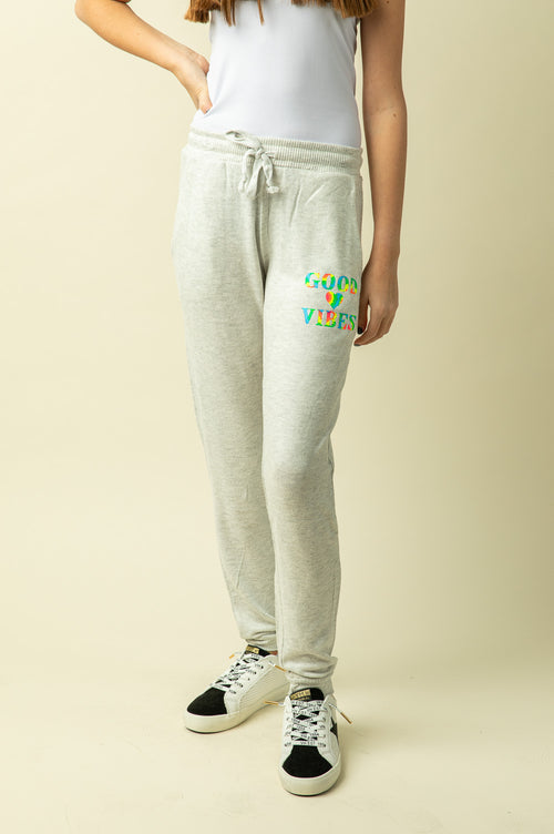 GOOD VIBES BRUSHED FLEECE JOGGERS