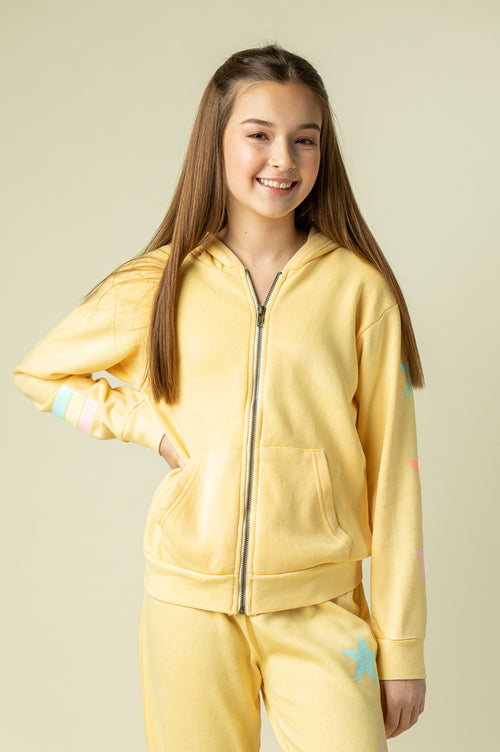 BUTTER BURNOUT FULL ZIP HOODY