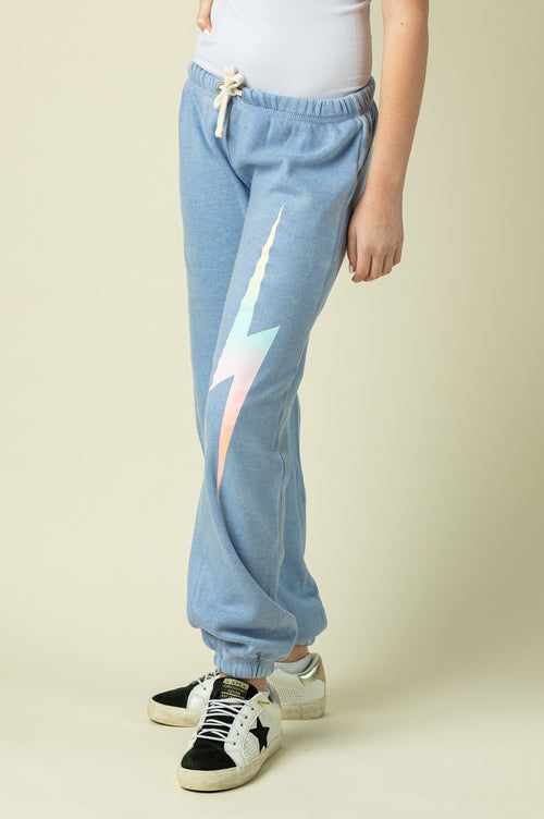 LILAC BURNOUT SWEATPANTS