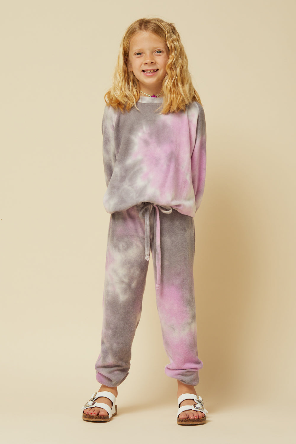 PURPLE/ GREY FLEECE JOGGER