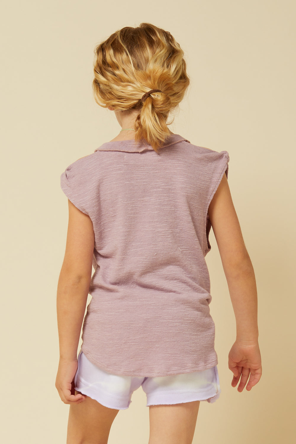 MAUVE COLD SHOULDER KNOT FRONT TANK TOP