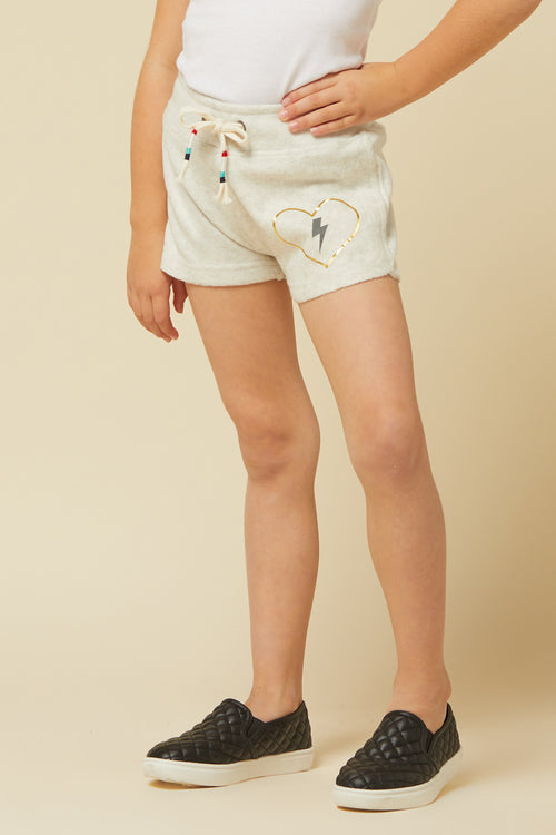 OATMEAL BURNOUT BOLT SHORTS