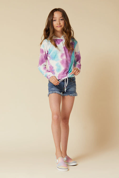 PURPLE/BLUE TIE DYE HOODY