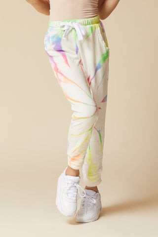 GRUNGE TIE DYE FLEECE QUARTER ZIP