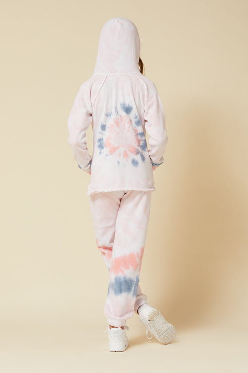 FLAMINGO TIE DYE BURNOUT HOODY