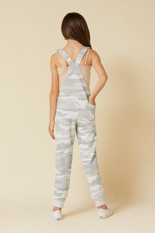 SOFT CAMO FLEECE OVERALLS