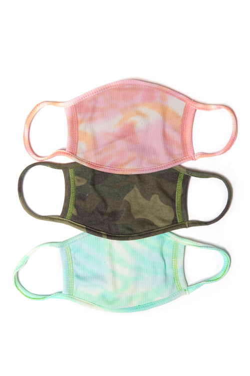 Face Mask 3 Pack - Camo Combo