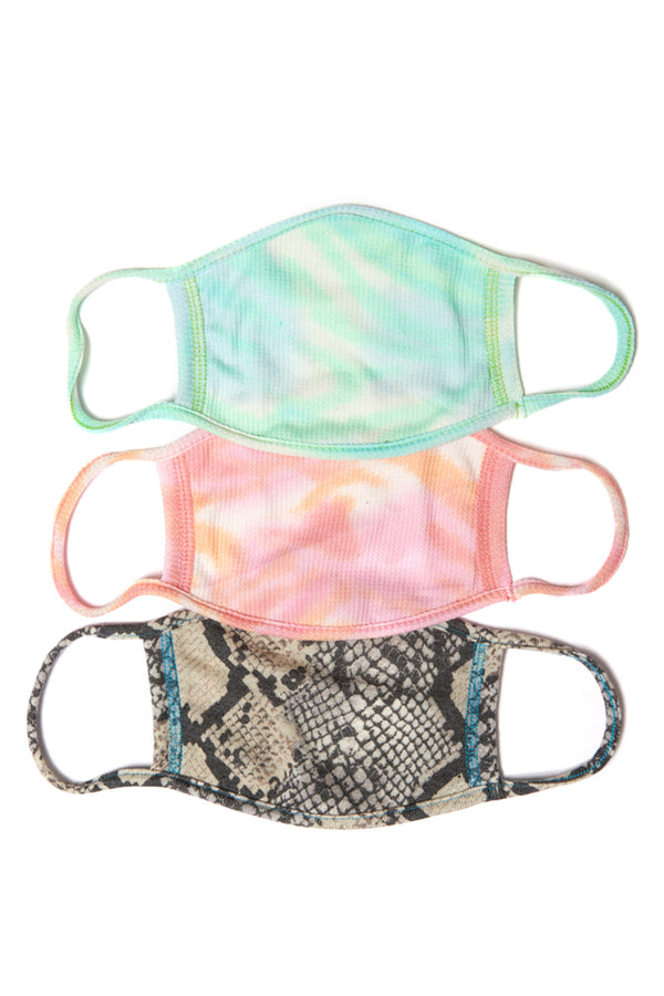 Face Mask 3 Pack - Snake Combo