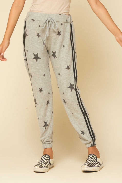 Oatmeal/Grey Star Joggers
