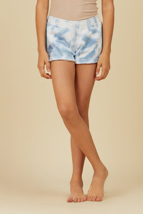 OCEANIC TIE DYE BURNOUT SHORTS