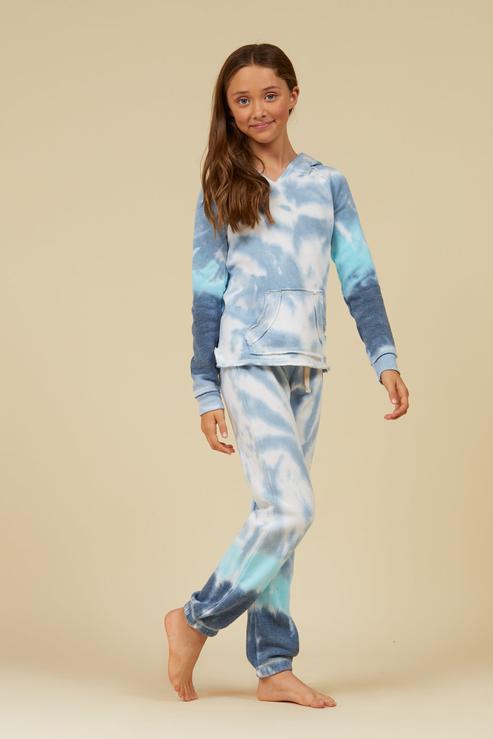 OCEANIC TIE DYE BURNOUT CROP JOGGER