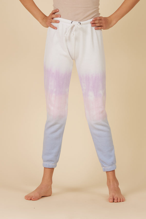 MULTI DIP DYE BURNOUT JOGGERS