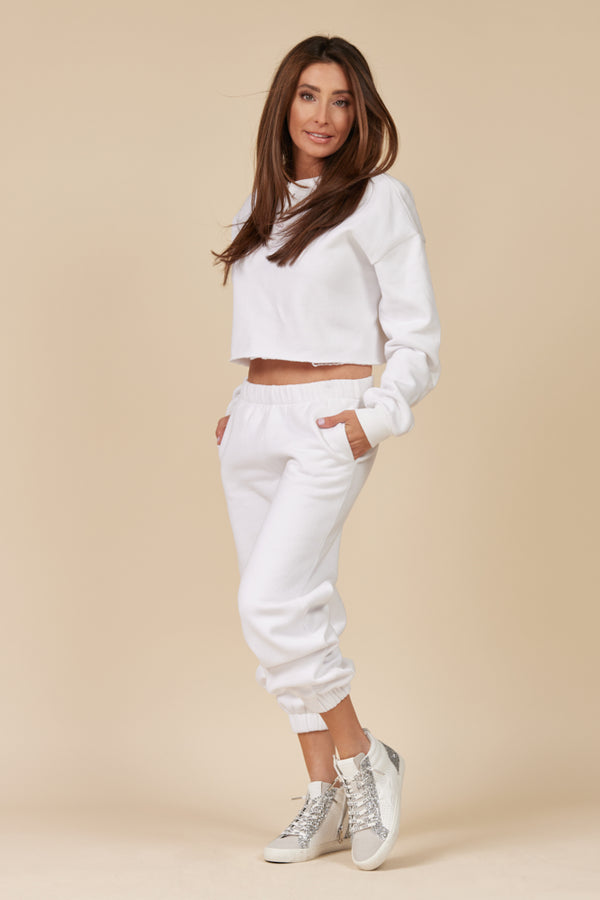 White Proweave Cropped Henley