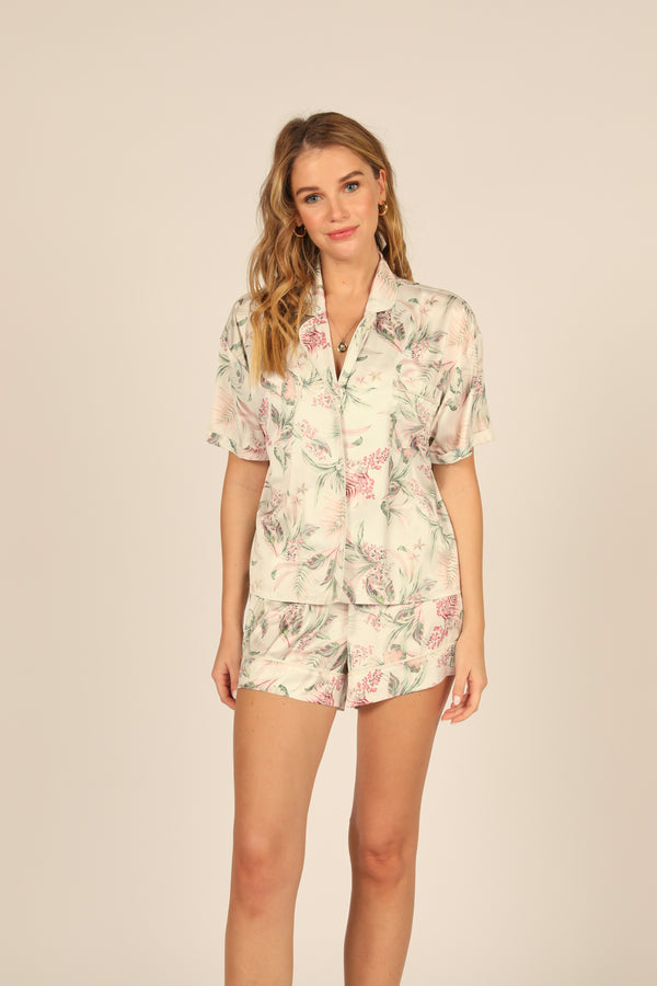 Day Lilly Print Satin Short