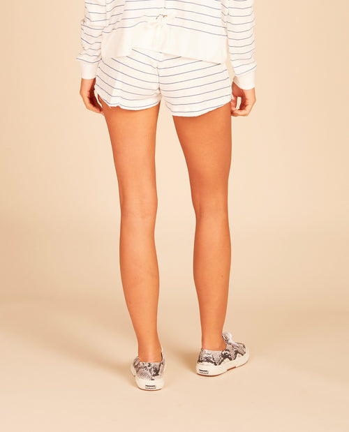 Striped Lace Up Shorts