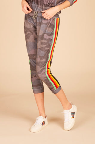 Striped Lace Up Jogger