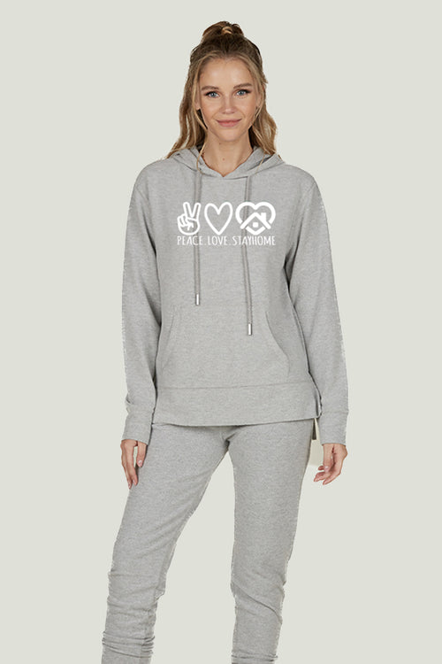 Peace, Love, Stay Home New Hacci Hoodie