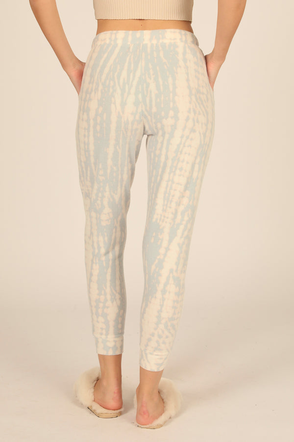 Dusty Blue/Peach New Heavy Hacci Tie Dye Jogger