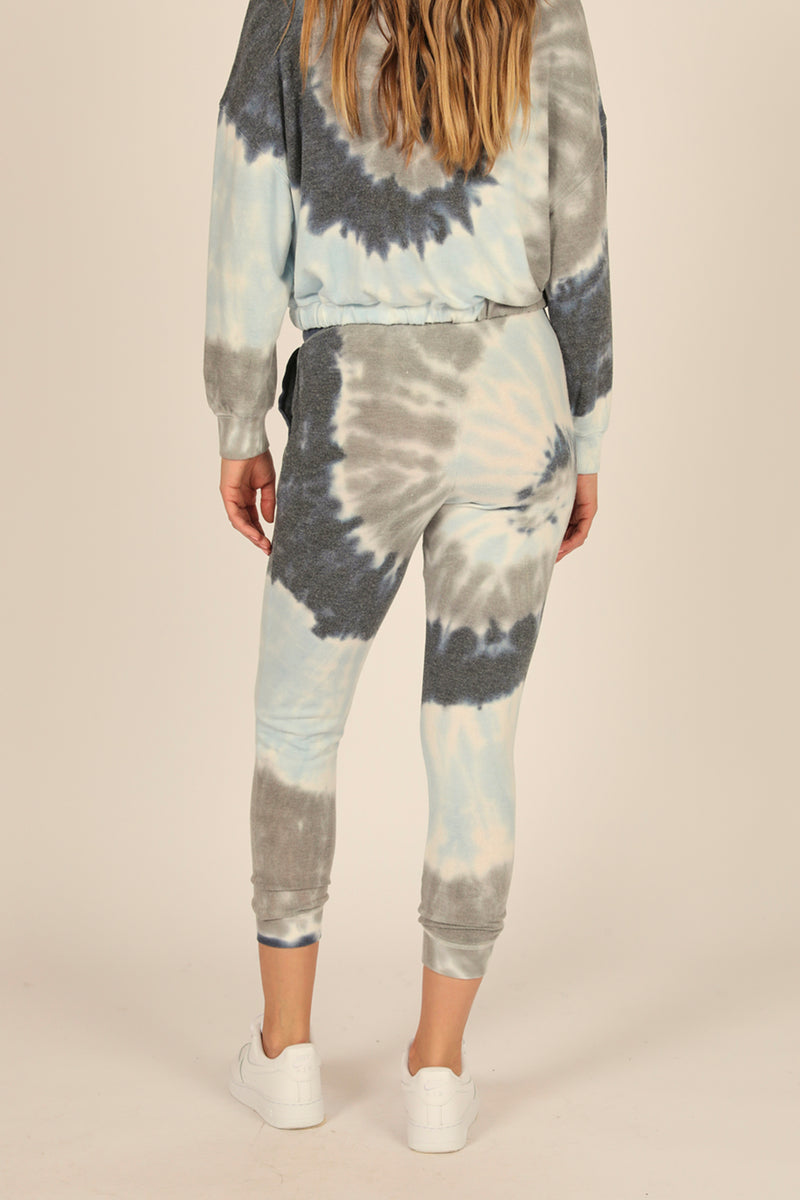 Sailboat Tie Dye New Heavy Hacci Jogger