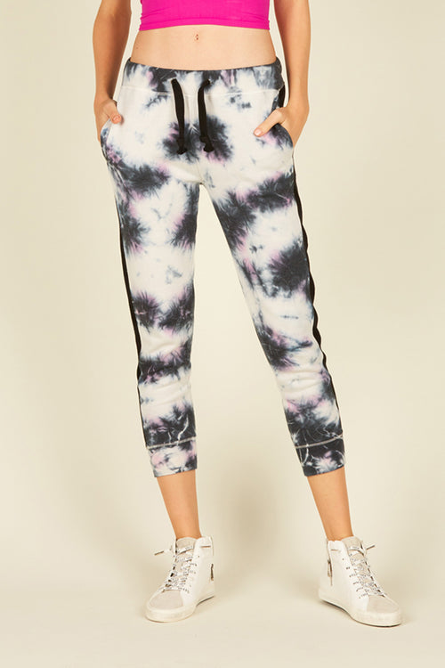 Cloudy Grey/Black/Lilac Tie Dye Jogger