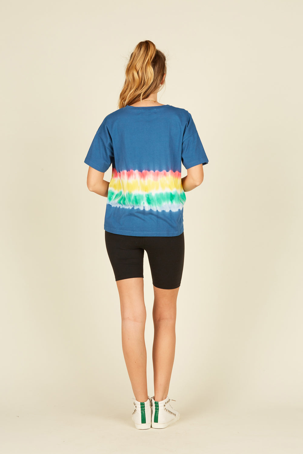 "Chambray ""Paradise"" Tie Dye Side Tie Tee"
