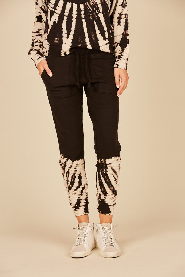 Bleached Feather Tie Dye Joggers