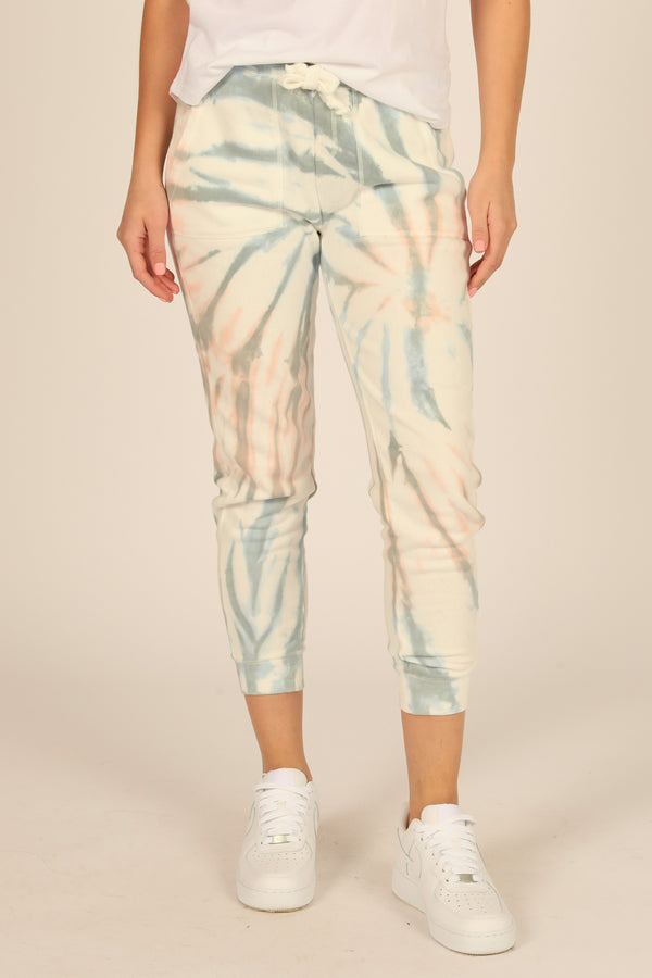 Breezy Beach Tie Dye Burnout Fleece Jogger